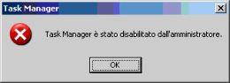 ripristinare task manager dopo un virus