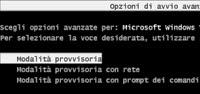 avviare Windows in modalità provvisoria