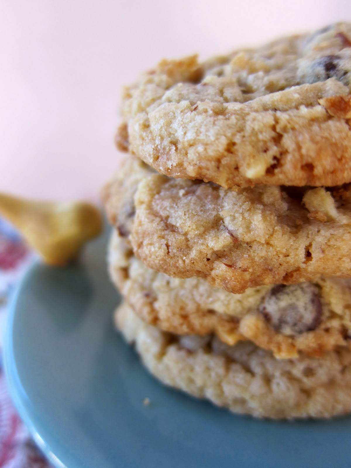 Almond Toffee Chocolate Chip Cookies | Plain Chicken