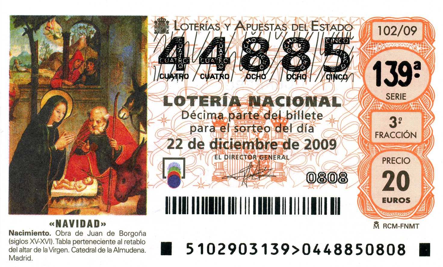 de decimos de loteria: