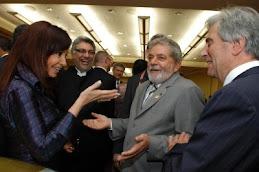 Cristina junto a sus pares latinoamericanos.