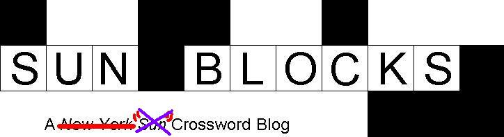 Sun Blocks - A Crossword Blog by Pete Mitchell
