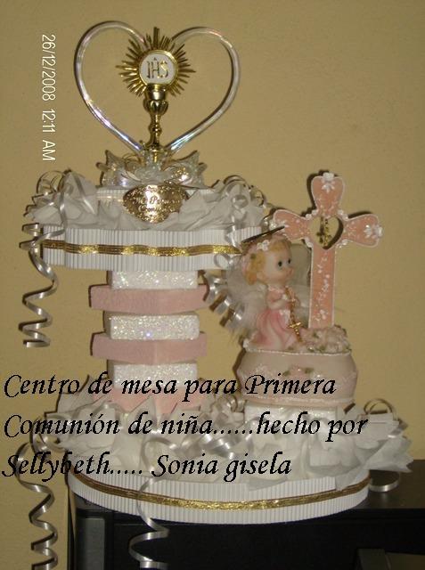 Artesanias Sonia: Centro de mesa Primera Comunión