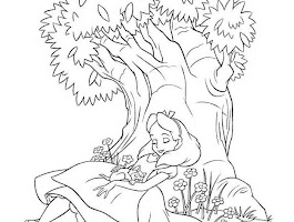 Disney Alice In Wonderland Coloring Pages Free