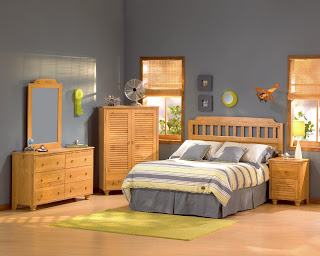 Bedroom Furniture Set In Golden Oak South S