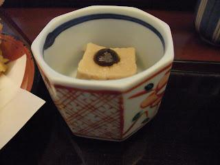 江戸川 上本町店の江戸川定食の胡麻豆腐