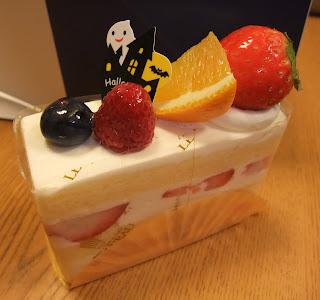 ル・ピノー本店のハロウィンのフルーツショートケーキ