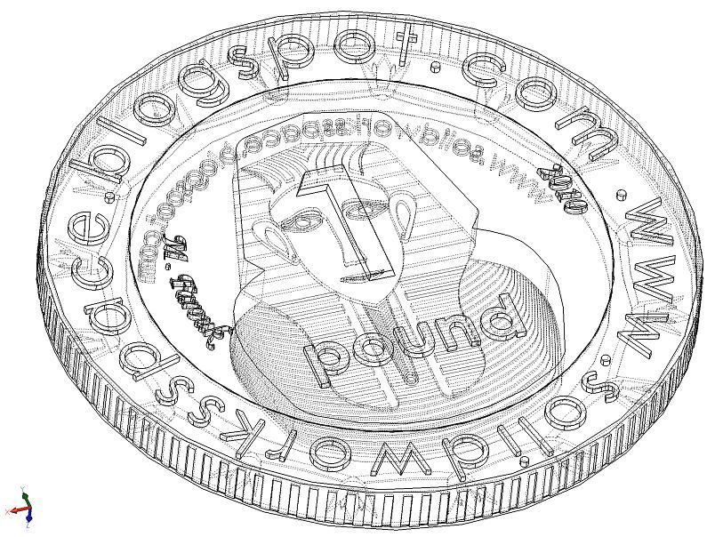 digipulse coin 3d autocad