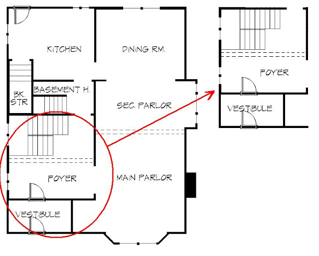 Foyer Layout Reviews : Color outside the lines planning vestibule foyer