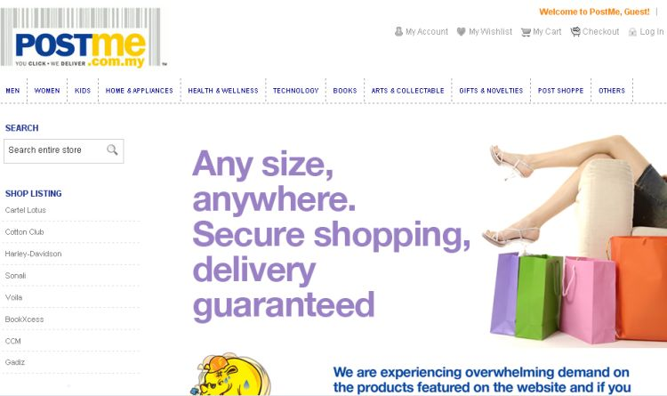 Online Shopping @ PostMe.com.my | Video