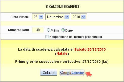 Calcolo scadenze con gestione festività