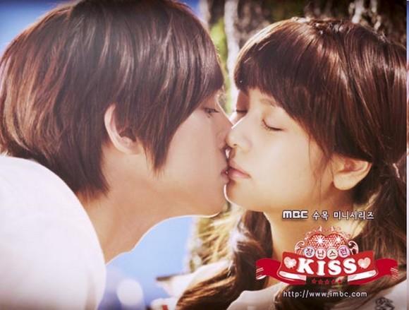 Playful kiss