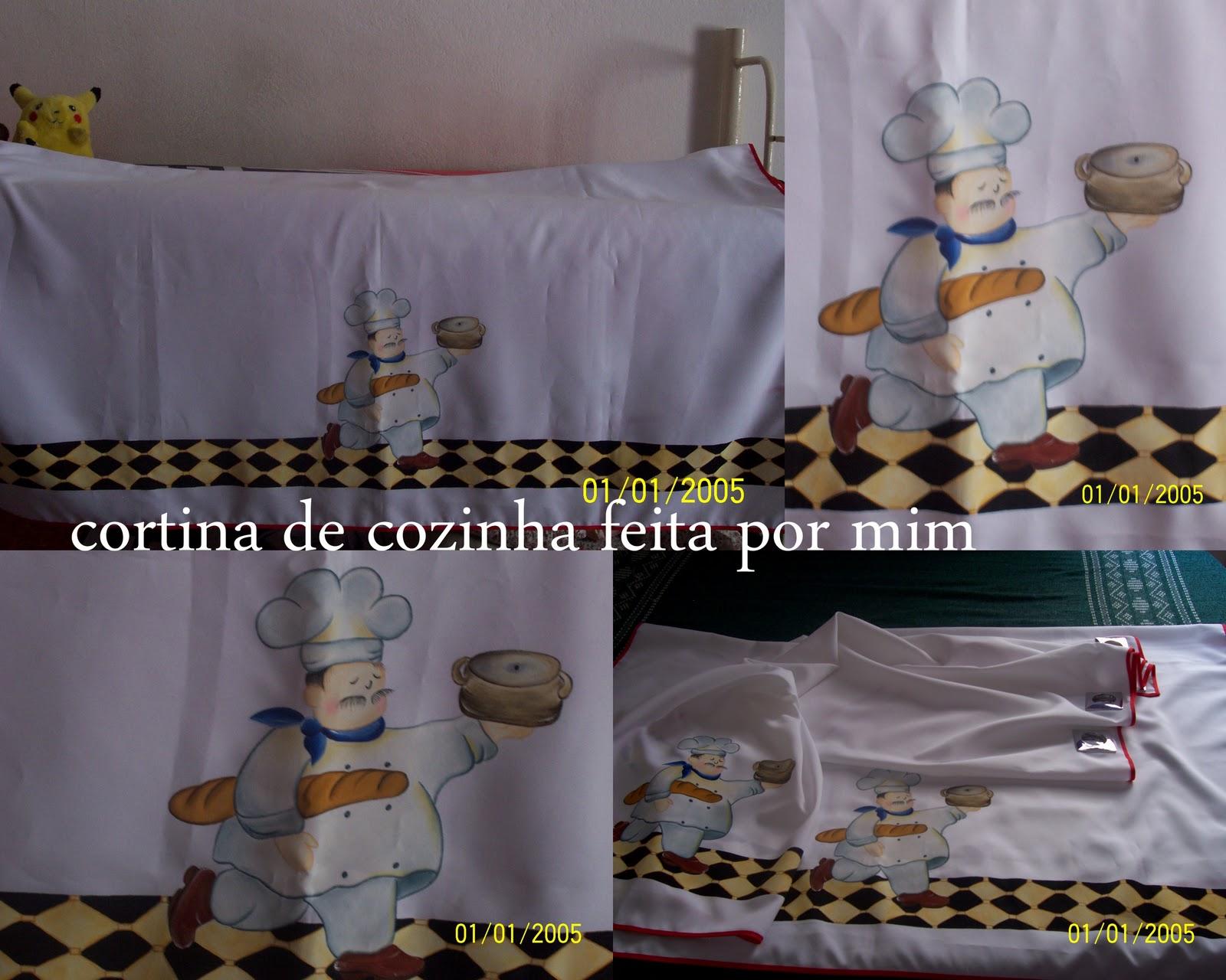 Fabiana Pinturas Em Tecido E Etc Cortina De Cozinha
