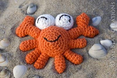 amigurumi, umigumi, crochet, softie, mini, crab, crabby, beach, cute, kawaii, homemade, diy, knuffel, krab, strand, zelfgemaakt, haken, gehaakt