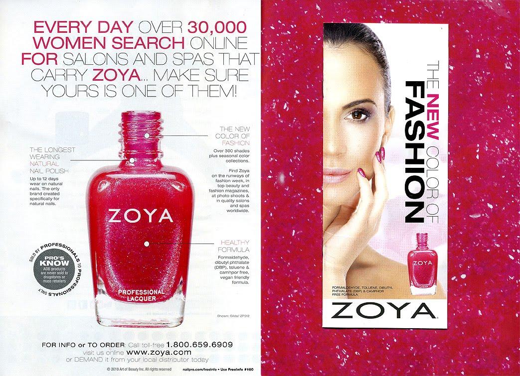 Zoya Nail Polish Color Chart in Nail Pro.   Zoya Nail Polish Blog