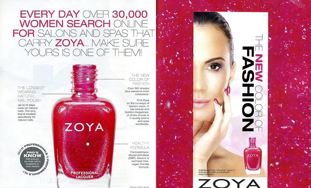 Zoya Nail Polish Color Chart in Nail Pro. | Zoya Nail Polish Blog