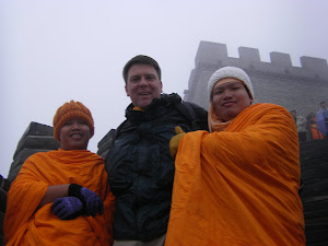 With my new friends on the Great Wall of China