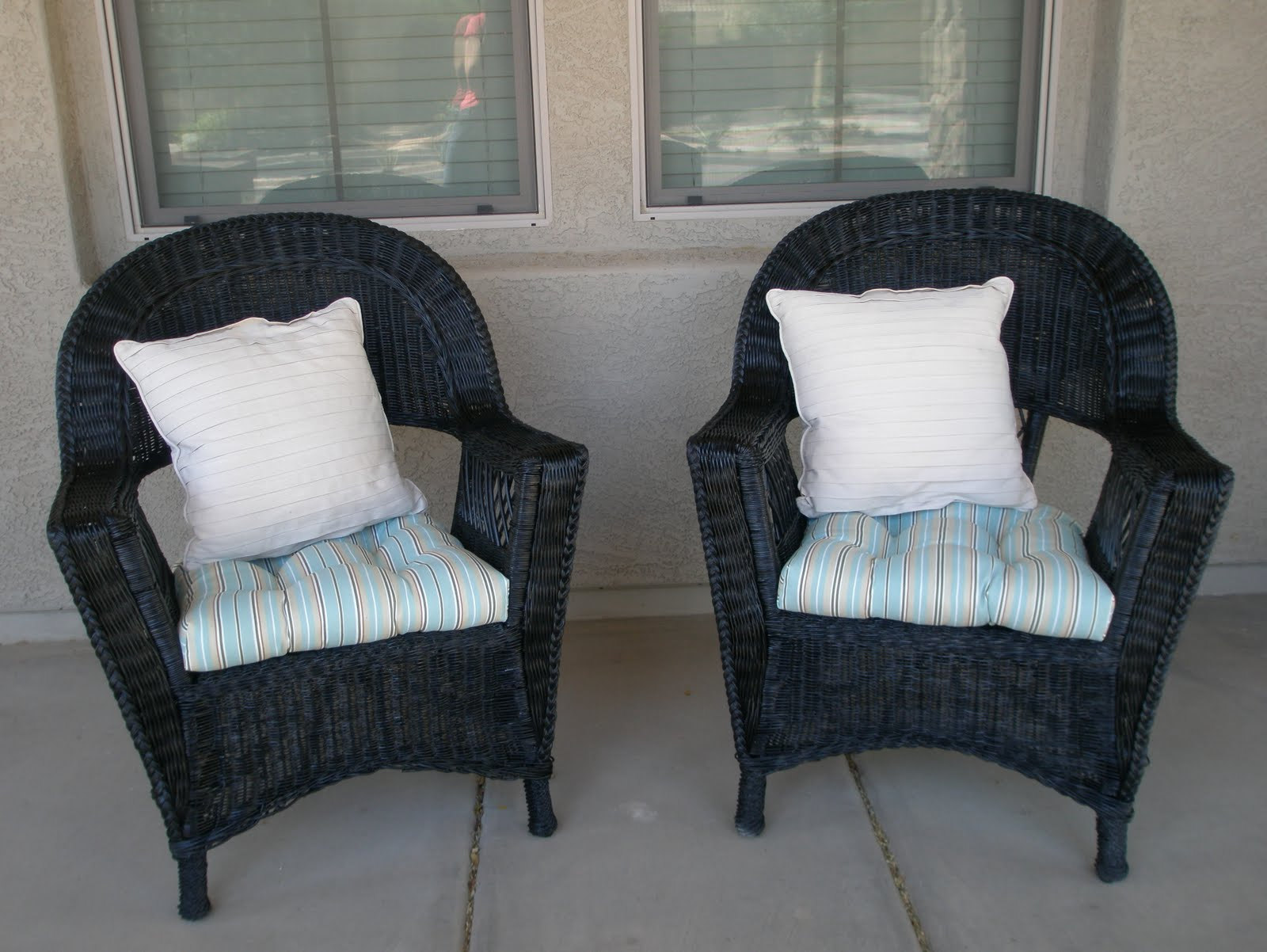 Marin s Creations Wicker Patio Chairs Before and After