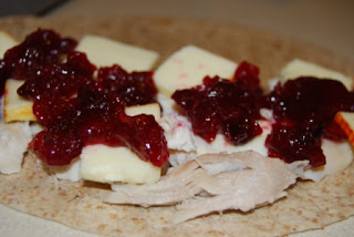 Turkey, Cranberry & Cheese Quesadillas