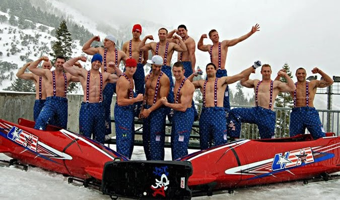 DAVID DUST: U.S. Bobsled Team - Shirtless