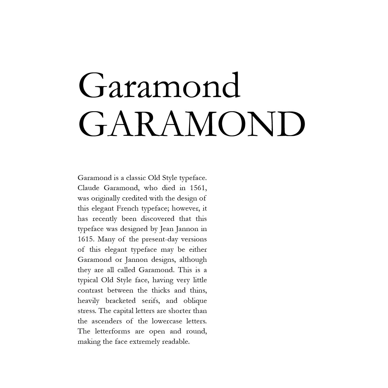 Art3990c Typography Type Arrangements Garamond