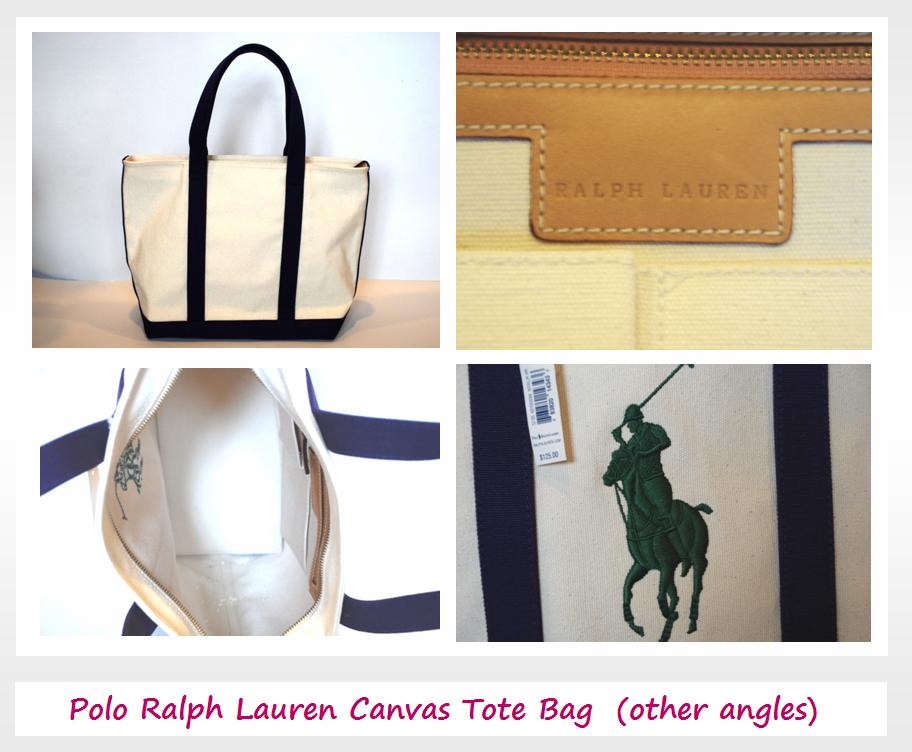 A great weekend end tote to go with any of your summer dresses, sporty  shorts as well as a Ralph Lauren Polo-T!