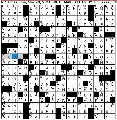 Rex Parker Does The Nyt Crossword Puzzle Eponymous Engineer Sun 3 28 10 Follower Of