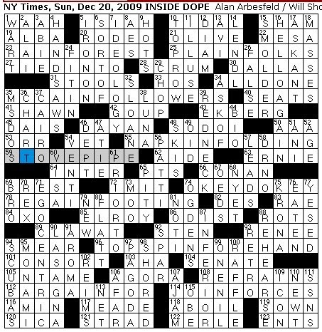 Rex Parker Does The Nyt Crossword Puzzle Sunday Dec 20