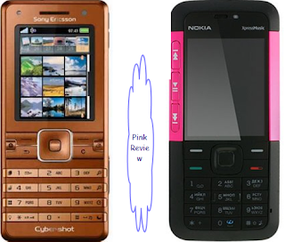 Sony Ericsson K770i Pink Vs Nokia 5310 Xpress Music Pink