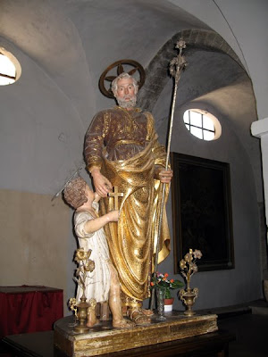 St Joseph and the young Jesus