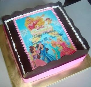 Tiramisu Cake with Barbie Edible Image