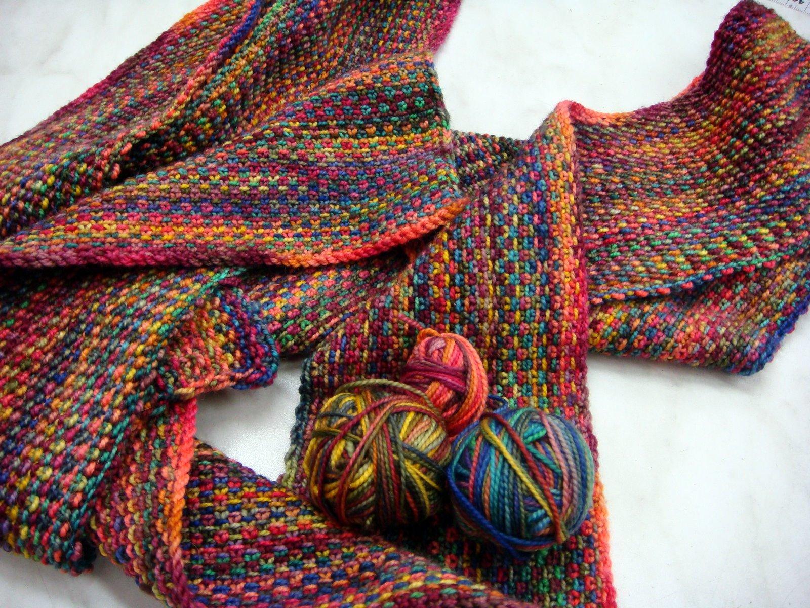 Wills Wools: Koigu Linnen steek Sjaal / Linen Stitch Scarf