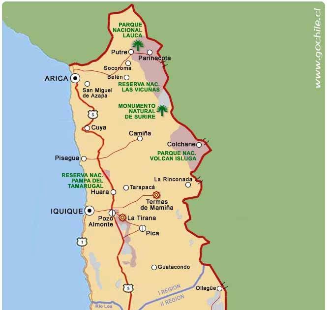 Todo sobre la zona norte de chile mapa norte grande y for Marmoles y granitos zona norte