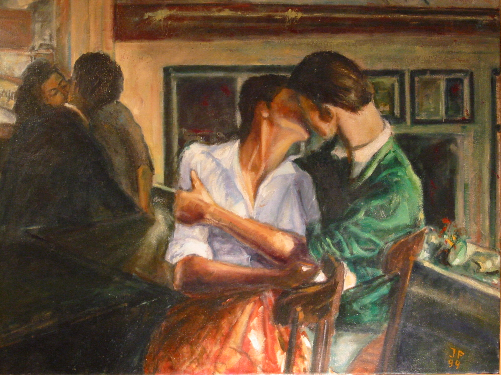 Pintura artistica el beso - Cuadros de besos ...