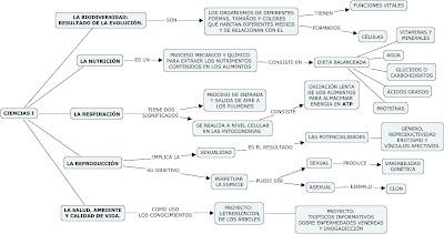 Mapa Conceptual de la materia de Ciencias I