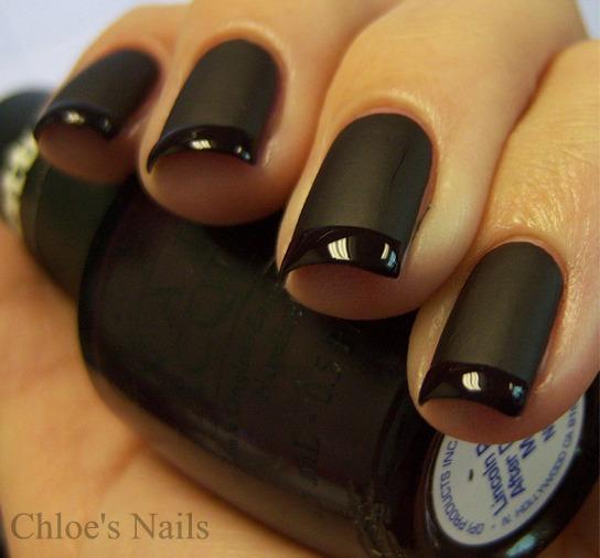 Matte Black Gel Nail Polish: Chloe's Nails: Back To Basics