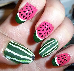 MelonNails7 Wonderful Decorated Manicure in Pink Shade