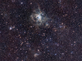 Fotografía de la Nebulosa de la Tarántula obtenida con el telescopio VISTA