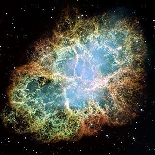 Imagen de la Nebulosa del Cangrejo, obtenida por el telescopio Hubble