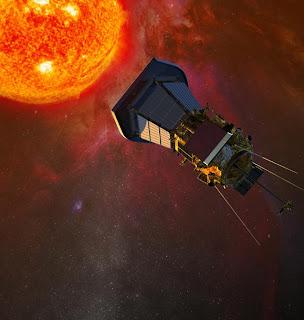 Ilustración artística de la nave espacial 'Solar Probe Plus' acercándose al Sol