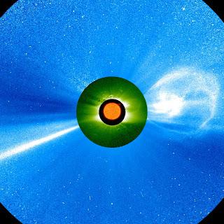 Una eyección de masa coronal observada por las naves STEREO, el 12 de diciembre de 2008