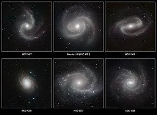 Una galería de galaxias espirales fotografiadas en luz infrarroja por HAWK-I
