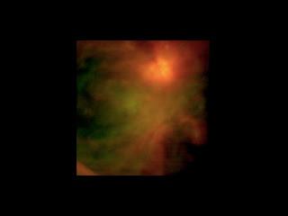 Imagen infrarroja del complejo de formación estelar en Orión tomada por el instrumento FORCAST