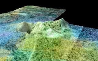 Imagen de Sotra Facula, basada en datos de Cassini