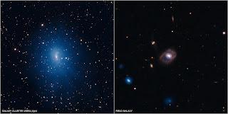 Imágenes compuestas de las galaxias Abell 644 y SDSS J1021+1312, utilizadas en un estudio reciente de agujeros negros supermasivos