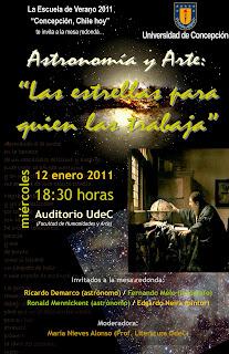 Afiche de 'Astronomía y Arte: Las estrellas para quien las trabaja'