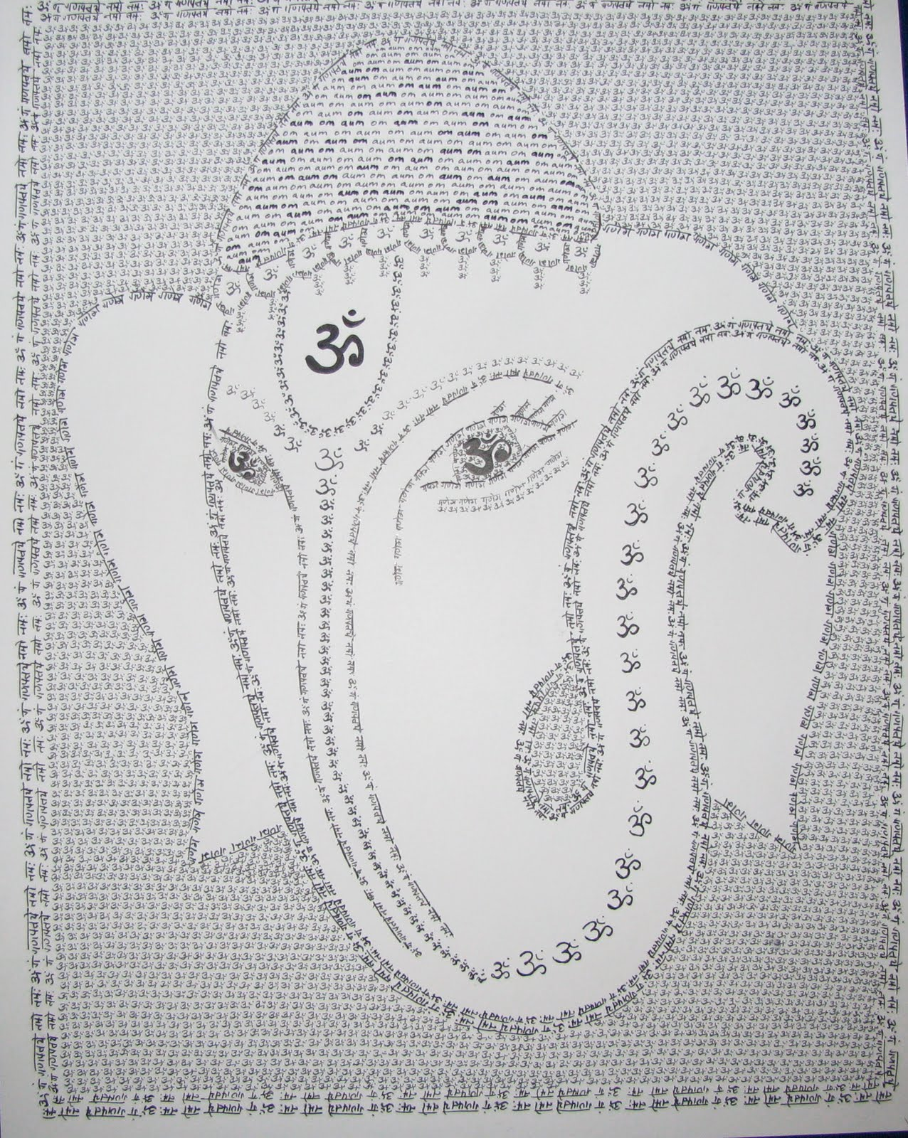 Art Craft Projects Likhita Japa Drawing Lord Ganesha