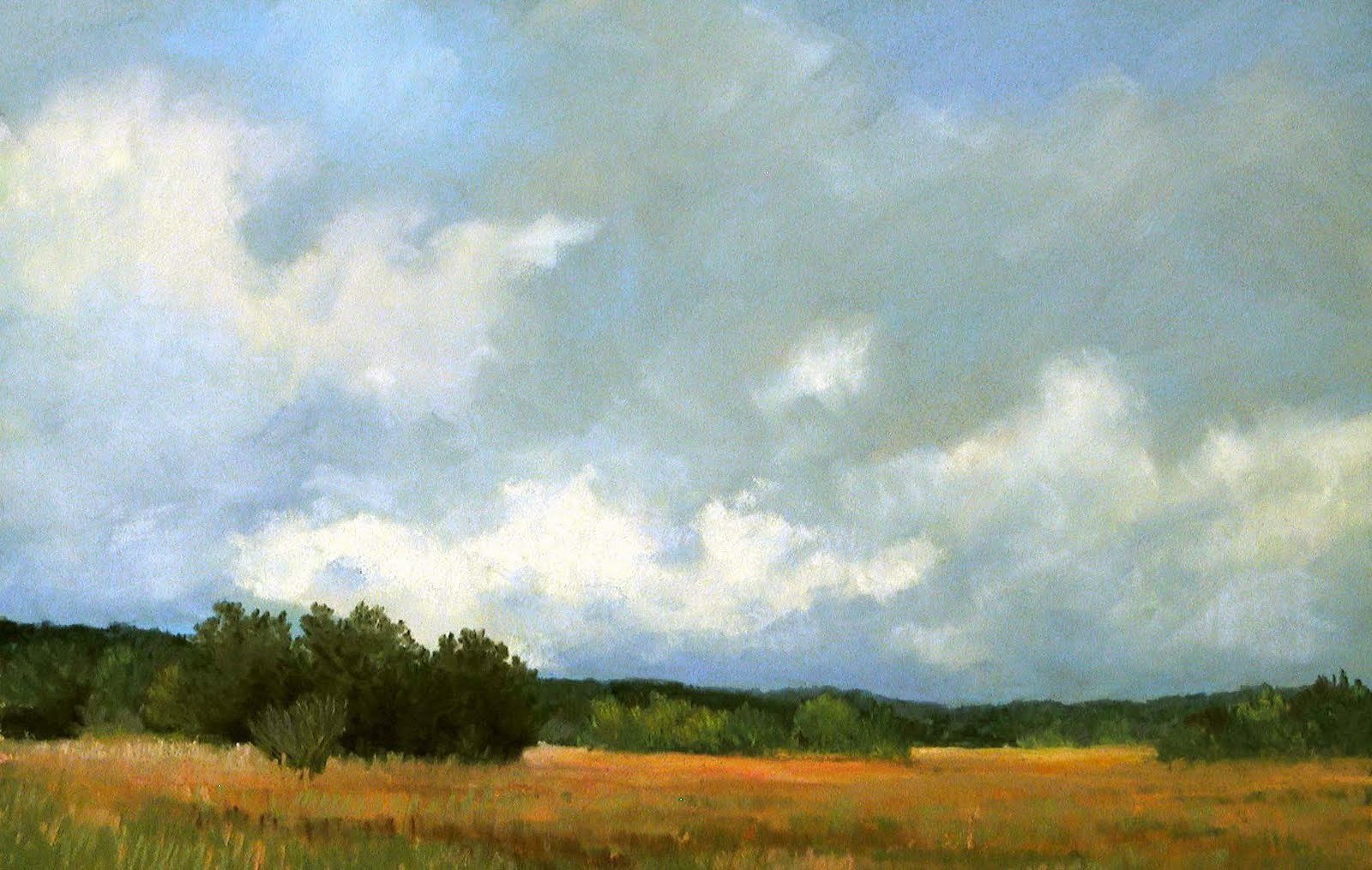 Soft morning 8 75 x 13 5 on buttercup yellow pastelmat