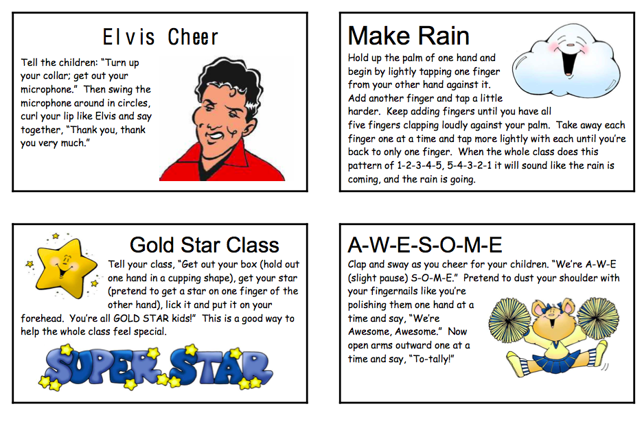 Cheers For Elementary Classrooms ~ The fairytale of a first grade teacher classroom cheers
