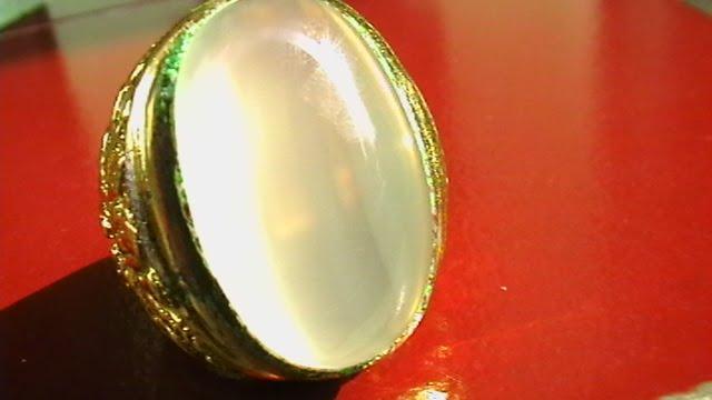 jenis batu akik pandan ster jenis ikat perak chrome emas uk 19mm ...